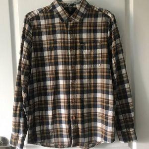 Men's small Volcom flannel button down shirt